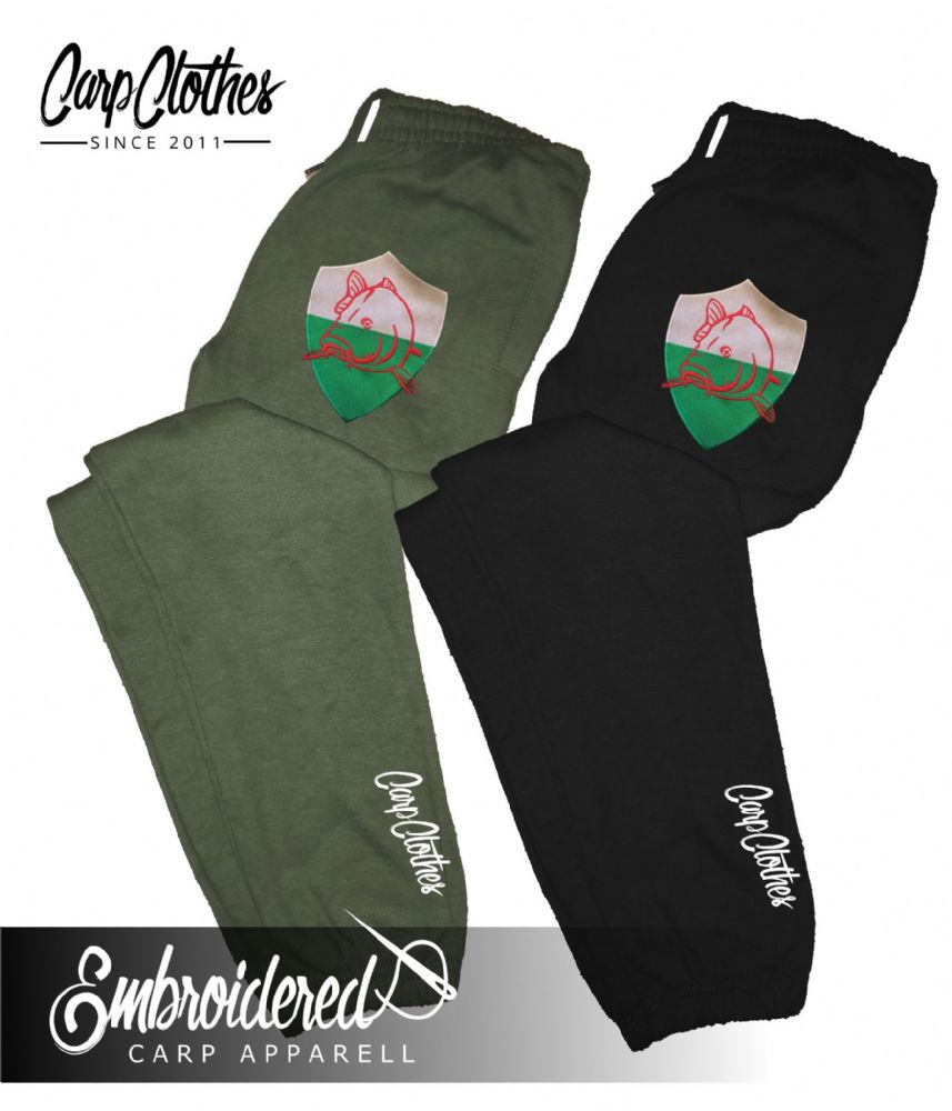 022 EMBROIDERED CARP JOGGERS
